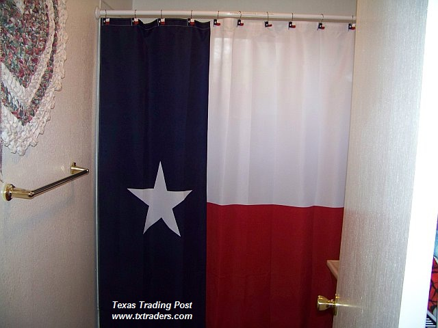 Curtain - Texas Flag Shower Curtain